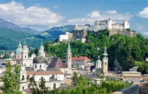 Hohensalzburg Fortress in Salzburg. Austria